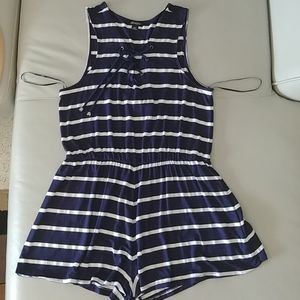 Venus Navy Stripe Swim Coverup New Without Tags